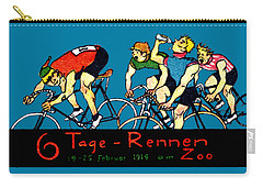 1914 Bicycle Race Poster Carry-all Pouch