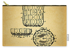 Carry-all Pouch featuring the mixed media 1916 Pool Table Pocket Patent by Dan Sproul