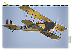 1917 Curtiss Jn-4d Jenny Flying Canvas Photo Poster Print Carry-all Pouch by Keith Webber Jr