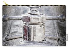 Carry-all Pouch featuring the photograph 1920 Pierce-arrow Model 48 Coupe Hood Ornament -2829ac by Jill Reger