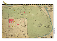 Carry-all Pouch featuring the photograph 1923 Inwood Hill Map  by Cole Thompson