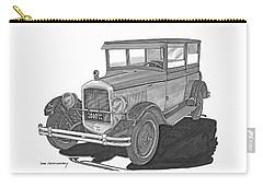 1925 Jewett 2 Door Touring Sedan Carry-all Pouch by Jack Pumphrey