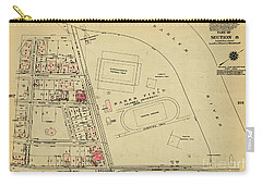Carry-all Pouch featuring the photograph 1927 Baker Field Map  by Cole Thompson