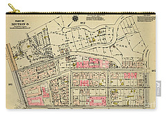 Carry-all Pouch featuring the photograph 1927 Inwood Map  by Cole Thompson