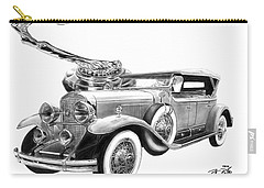 1929 Cadillac  Carry-all Pouch by Peter Piatt