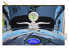 Carry-all Pouch featuring the photograph 1929 Ford Model A Hood Ornament  by Rich Franco