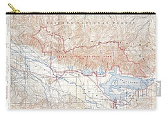 1929 Usgs Map Of Grand Teton National Park Wyoming  Carry-all Pouch