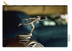 Carry-all Pouch featuring the photograph 1930 Buick Mercury Radiator Cap by Trey Foerster
