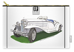 1930 Isotta Fraschini 8a Flying Star Roadster Carry-all Pouch by Jack Pumphrey