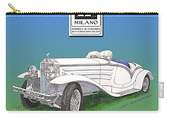 1930 Isotta Fraschini Tippo 8 A Flying Star Roadster Carry-all Pouch by Jack Pumphrey
