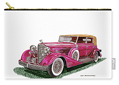 1932 Cadillac All Weather Phaeton V 16 Carry-all Pouch by Jack Pumphrey