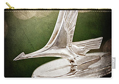 Carry-all Pouch featuring the photograph 1932 Studebaker Dictator Hood Ornament -0850ac by Jill Reger