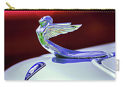 Carry-all Pouch featuring the photograph 1933 Plymouth Hood Ornament -0121rc by Jill Reger