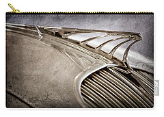 Carry-all Pouch featuring the photograph 1934 Desoto Airflow Coupe Hood Ornament -2404ac by Jill Reger