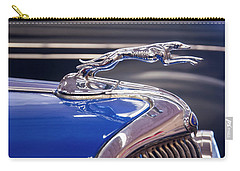 Carry-all Pouch featuring the digital art 1934  Ford Greyhound Hood Ornament by Chris Flees