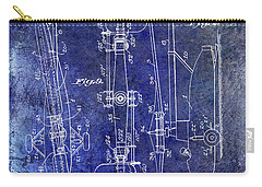 1935 Helicopter Patent Blue Carry-all Pouch by Jon Neidert