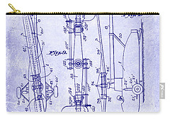 1935 Helicopter Patent Blueprint Carry-all Pouch