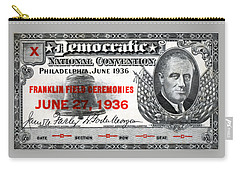 1936 Democrat National Convention Ticket Carry-all Pouch