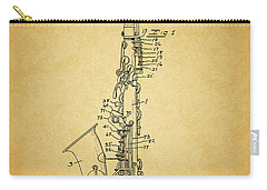 1936 Saxophone Patent Carry-all Pouch by Dan Sproul