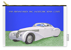 1938 Hispano Suiza H6c Saoutchik Xenia Coupe Carry-all Pouch by Jack Pumphrey
