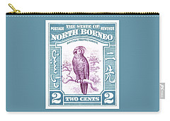 1939 North Borneo Palm Cockatoo Postage Stamp Carry-all Pouch