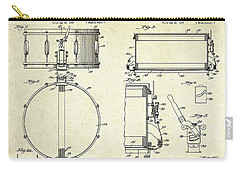 1939 Slingerland Snare Drum Patent Sheets Carry-all Pouch by Gary Bodnar