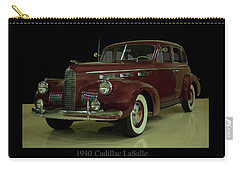 Carry-all Pouch featuring the photograph 1940 Cadillac Lasalle by Chris Flees