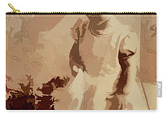 Carry-all Pouch featuring the photograph 1940s Little Girl by Linda Phelps