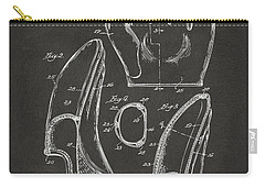 Carry-all Pouch featuring the digital art 1941 Baseball Glove Patent - Gray by Nikki Marie Smith