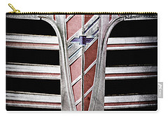 Carry-all Pouch featuring the photograph 1941 Chevrolet Grille Emblem -0288ac by Jill Reger