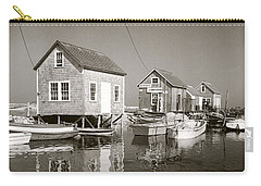 Carry-all Pouch featuring the photograph 1941 Lobster Shacks, Martha's Vineyard by Historic Image