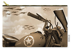 Carry-all Pouch featuring the photograph 1942 Indian 841 - B-17 Flying Fortress - H by Mike McGlothlen