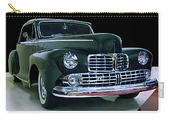 Carry-all Pouch featuring the photograph 1946 Lincoln Convertible by Chris Flees