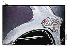 Carry-all Pouch featuring the photograph 1947 Delahaye Emblem -1477ac by Jill Reger