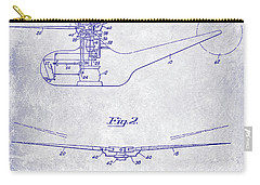 1947 Helicopter Patent Blueprint Carry-all Pouch