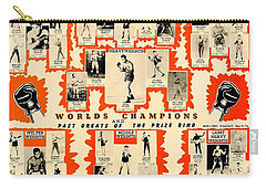 1947 World Champions And Past Greats Of The Prize Ring Carry-all Pouch