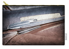 Carry-all Pouch featuring the photograph 1948 Chevrolet Hood Ornament -0587ac by Jill Reger