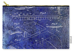 1949 Helicopter Patent Blue Carry-all Pouch by Jon Neidert
