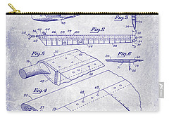 1949 Helicopter Patent Blueprint Carry-all Pouch by Jon Neidert