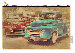 1950 Ford Truck Classic Cars - Homecoming Carry-all Pouch by Rebecca Korpita