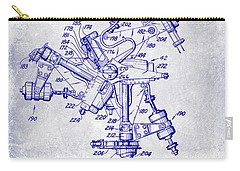 1950 Helicopter Patent Blueprint Carry-all Pouch
