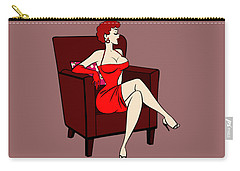 1950s Cartoon Pinup Girl Carry-all Pouch