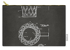 Carry-all Pouch featuring the digital art 1951 Basketball Net Patent Artwork - Gray by Nikki Marie Smith