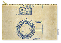 Carry-all Pouch featuring the digital art 1951 Basketball Net Patent Artwork - Vintage by Nikki Marie Smith