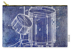 1951 Drum Kit Patent Blue Carry-all Pouch