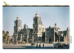 Carry-all Pouch featuring the photograph 1951 Metropolitan Cathedral Mexico City by Marilyn Hunt