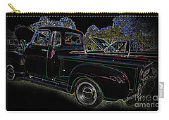 Carry-all Pouch featuring the photograph 1952 Neon Chevrolet Pickup by Geraldine DeBoer