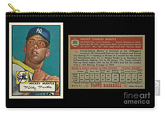 1952 Topps Mickey Mantle Rookie Card Carry-all Pouch by Art Kurgin