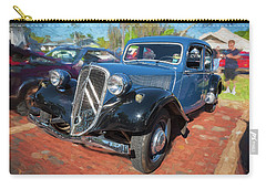 Carry-all Pouch featuring the photograph 1953 Citroen Traction Avant by Rich Franco