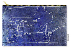 1953 Helicopter Patent Blue Carry-all Pouch by Jon Neidert